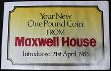 1983 | Your New One Pound Coin From Maxwell House | Coins | KM Coins