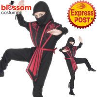 CK469 Ninja Child Kids Warrior Kungfu Boys Fancy Dress Party Costume Book Week