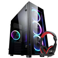PC COMPUTER CASE ATX GAMING TEMPERED GLASS  IONZ KZ02+ Dynamode DH-500 Headset