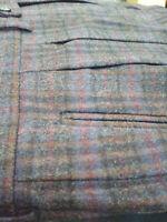 Pantalone uomo classic fantasia Anni 80 Made in Italy 100% lana new quadri tg 52