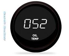 DIGITAL OIL TEMPERATURE GAUGE INTELLITRONIX WHITE LEDS BLACK BEZEL + Sender Dash