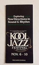 Kool Jazz Festival Program 1982 Laurie Anderson