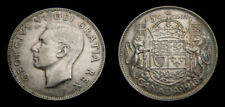 CANADA 1948 Fifty 50 Cent Piece Key Date King George VI Good VF+