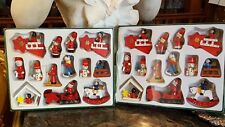 26 WOOD Christmas Tree Ornaments NEVER OUT OF BOX - ADORABLE & COLORFUL!