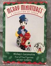 1998 Hallmark Merry Miniatures Ornament Mickey's Locomotive Mouse Qrp8496 Nib