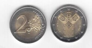 LATVIA BIMETAL 2 EURO UNC COIN 2018 YEAR BALTIC WAY