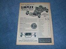"1960 Simplex Challenger Racer Vintage Ad ""If You Can Drive You Can Win. Go-Kart"