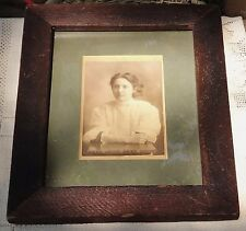 """VINTAGE LATE 1800's FRAMED PHOTOGRAPH - UNKNOWN WOMAN - FRAME 10.25"""" X 12.25"""""""