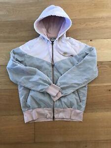 Womens Nike Pink/Grey Tech Nylon Lined Jacket Size XL