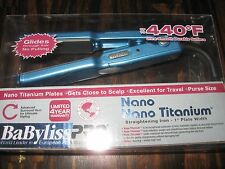 "Babyliss Pro Nano Titanium Purse SIZE  1"" Mini Flat Straightening Iron-BABNT3053"