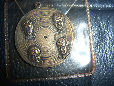 The Beatles  ORIGINAL MEDAL Record Charm / Pendant FAB FOUR  FIRST USA VISIT