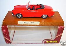 MADE FRANCE VEREM SOLIDO PEUGEOT 403 CABRIOLET ROUGE 1956 ROUES RAYON 1/43 BOX