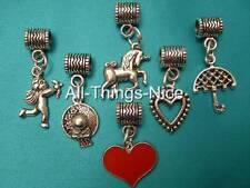 European 5mm BIG TUBE Bracelet Necklace Dangle Spacer Charm Beads Jewellery 6