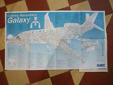 9/1998 GALAXY AEROSPACE GALAXY BUSINESS JET CUTAWAY POSTER ECORCHE