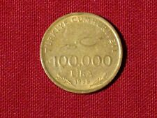 *** 1999  100,000 Lira coin  - Turkey  KM# 1078  < 75th Anniversary coin>