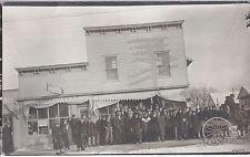 1910s Rp Postcard Fur Coat Men At Small Town Restaurant Western Prospectors?