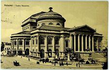 Cartolina Formato Piccolo - Palermo - Teatro Massimo Viaggiata
