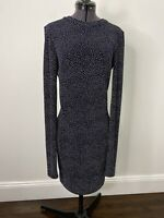 Bec + Bridge Black Midi Dress Polka Dot Size 8 EUC