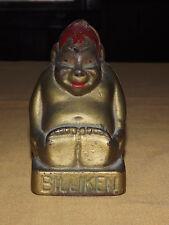 VINTAGE MONEY  GOOD LUCK BILLIKEN  CAST IRON METAL COIN BANK