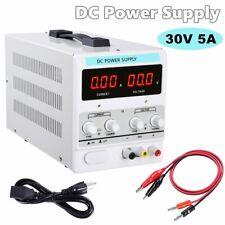 Power Supply 30v 5a 110v Precision Variable Dc Digital Adjustable Lab Withclip