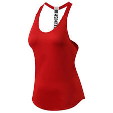 Womens Fitness Tank Top Running Vest Ladies Casual Gym Sleeveless Sports Shirt