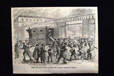 Via Silvio Pellico, Il Secolo  Incisione del 1870