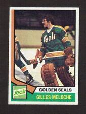 Gilles Meloche California Seals 1974-75 Topps Hockey Card #205 High Grade NM