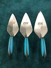 """OX Tools Pro Narrow London Brick Trowel 3 Piece Set (9,"""" 10,"""" & 11"""")"""
