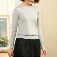 Damenmode Sweatshirt Sweater Dünn Pullover Kaschmir Wolle Business Freizeit Bunt