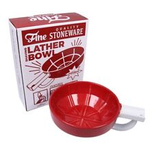 Fine Wet Shave Lather Bowl Red White