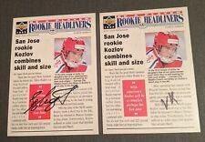 Viktor Kozlov 1994-95 Upper Deck Be a Player Autograph #153 Auto Full Signature