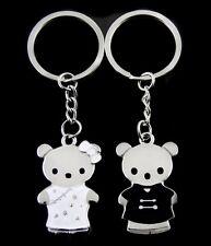 2 Porte-clés, bijoux de sac, motif mignon couple ourson, ours