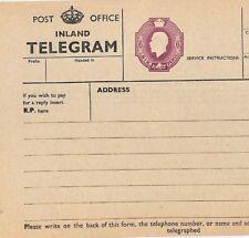 Ac389 Gb Superb Kgv 6d Telegram 1935 Unused Postal Stationery {samwells-covers}