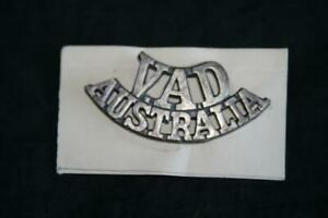 VAD AUSTRALIA WWII VOLUNTRY AID SHOULDER TITLE DETACHMENT COMES IN EXC ORIG COND