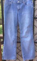 Ann Taylor Loft Women's 6 Modern Blue Denim Jeans Cotton Stretch  Ships Free