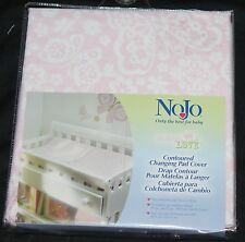 NoJo Butterfly Love Contoured Changing Pad Cover pink new