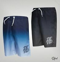 Boys DFND London Logo Mesh Lined Swim Shorts Sizes Age from 5 to 16 Yrs