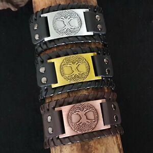 Lederarmband Yggdrasil Armband Wikinger Schmuck Viking Lebensbaum Mittelalter