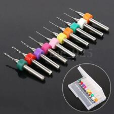 10pcs PCB 0.3mm-1.2mm Print Circuit Board Carbide Micro Drill Bits Rotary Tools