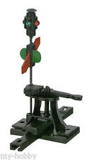 "HO Scale High-Level Switch Stand .190"" Travel Sprung w/Lantern & Targets - 103R"