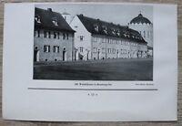 1 Blatt 1929 Bamberg Ost Wohnhäuser Architektur Heinrichskirche Str. Ofr 23x15cm