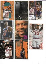 PATRICK EWING LOT (23) INSERTS, GRADED, SKYBOX CLOSE UP, DIE CUT, KNICKS, BV$35+