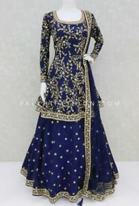 Salwar kameez Party Wear Anarkali Dress Bollywood Pakistani Indian Wedding Suit