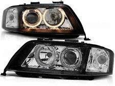HEADLIGHTS LHD/RHD LPAU70 AUDI A6 1999 2000 2001 ANGLE EYES BLACK