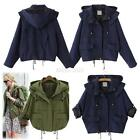 Korean Women's Hooded Coat Warm Hoodie Parka Overcoat Long Zipper Jacket Outwear