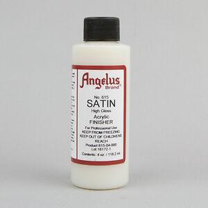 Angelus Acrylic Leather Paint SATIN HIGH GLOSS 615 Finisher 4oz Leather Sealer