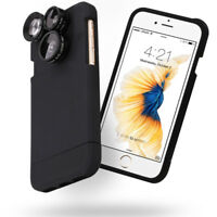 For iPhone 6 7 8 Plus Cover 4 in1 Camera Lens Kit Fisheye Macro Wide Angle Lens