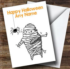 Scary Mummy Personalised Halloween Card