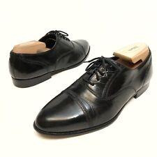 Giorgio Brutini Men's Oxford Dress Shoes Sz  9D Leather Black CapToe Lace EUC