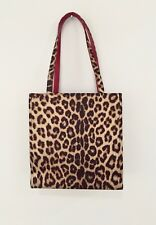 Isabella Fiore Tote Handbag Leopard Animal Print Transport Shoulder Bag Satin